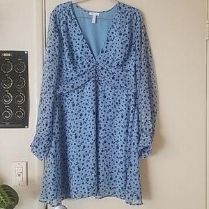 Leith long sleeve blue size XL dress